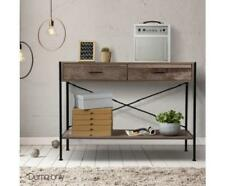 Industrial Vintage Style Wooden Hallway Console Dressing Side Table with Drawers