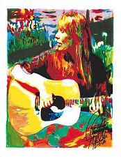 Joni Mitchell, Acoustic Guitar, Singer Songwriter, Folk Rock, 8.5x11 PRINT w/COA