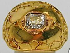 Ring mit Diamant Biedermeier antik Unikat Brillant Solitär 750 18Kt Gelb Gold