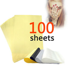 100 Sheets Tattoo Carbon Thermal Stencil Transfer Paper 8.5x11 Tracing