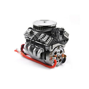 For 1/10 RC Crawle TRX4 SCX10 RC4WD D90 GRC V8 Simulate Engine Fan Radiator Hood
