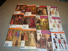 Lot of 12 New Simplicity Women's Halloween Costume Sewing Patterns