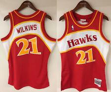 new concept 14155 09fae Atlanta Hawks Mens Dominique Wilkins 1986 Road Swingman Jersey L