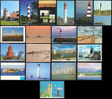 Collection Of Lighthouse Picture Postcard From Diff. Countries - 18nos Unused