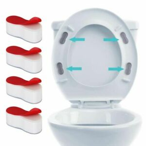 NEW 4PCS Toilet Seat Bumpers Toilet Seat Cover Lifter Kit with Strong Adhesive