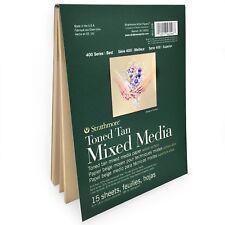 "Strathmore 400 Series Toned Tan Sketchbook – Mixed Media – 15 Sheets – 6 x 8"""