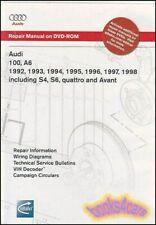 AUDI A6 SHOP MANUAL SERVICE REPAIR BOOK 100 S4 S6 QUATTRO WORKSHOP BENTLEY DVD