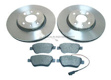 FIAT 500 1.4 , 1.4 16V  2007-2015 FRONT 2 BRAKE DISCS & PADS ( CHECK SIZE 257MM)