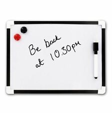 A4 Mini White Board Wipe Board Magnetic with Dry Wipe Pen and Eraser UK SELLER