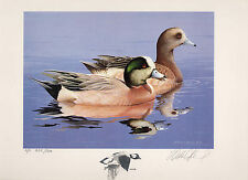 1984 Federal Duck Stamp RW51 Widgeon Painting Print by William Morris Proof Ed.