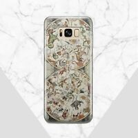 Vintage Samsung Galaxy S8 S9 S10 Plus Case World Map Samsung Note 7 8 9 Beasts