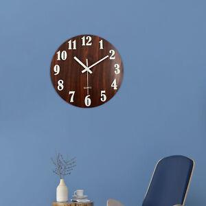 12'' Luminous Wall Clock Glow In The Dark Silent Indoor Kitchen Hanging Clocks