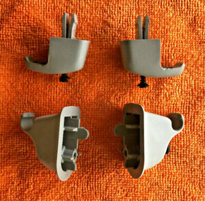 1999-2007 Ford F250 F350 Super Duty Sunvisor Retainer Clip OEM Grey pair