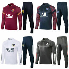 20-21 Kids Boys Football Club Team Soccer Tracksuit Top & Bottoms Sports Outfits