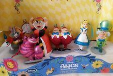 Disney Alice in Wonderland Christmas Ornament 6 pc set Alice, Mad Hatter, Queen