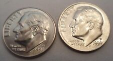 1999 P & D Roosevelt Dime Set (2 Coins)   **FREE SHIPPING**