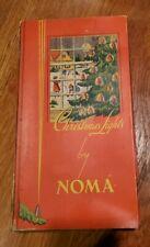 Vintage 1939 Christmas Lights by Noma in Original Box w/ Bakelite Plugs