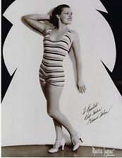 """Eleanor Holm Signed 8""""x10-1/2"""" photograph 1932 Olympic Gold Swimmer Actress"""