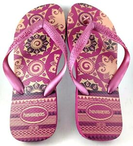 Havaianas Purple Thongs Flip Flops Sandals Size USA 6, EU 37/38, 24 cm  Gift