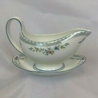 NEW MINT UNUSED WEDGWOOD ROSEDALE GRAVY BOAT WITH LINER FREE SHIPPING