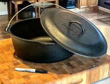"Lodge 15"" Cast Iron Dutch Oven With Lid & Handle 9 Qt L12DO"