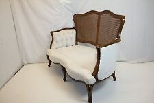 Art Nouveau French Louis XV Settee Loveseat w/ a Caned Back