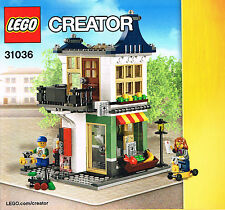 LEGO 31036 NEW Instruction Books (3) for Toy Grocery Shop + 2 Alternative Builds