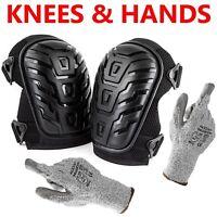 Cut Resistant Gloves + Professional Knee Pads Heavy Duty Foam Padding & Cushion