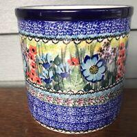 C.A. Polish Pottery Utensil Holder Jar -Unikat # 4458-T.Liana-NEW