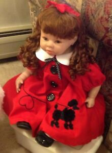 Toddler Reborn Doll in Red Poodle Dress-Real Mohair Wig-So Sweet-Made in U.S.A.