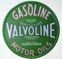 "Valvoline Gasoline Pennsyl Petrol Motor Oil Retro Metal Tin Sign Plaque 12"" NEW"