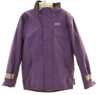 HELLY HANSEN Girls Windbreaker Jacket 6-7 Years Purple Polyamide  FK20
