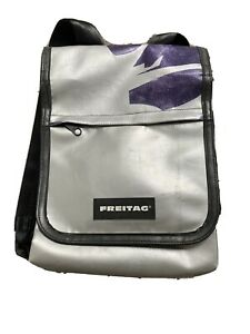 Freitag Fury backpack bag RARE SILVER AND PURPLE