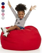 Bean Bag Stuffed Animal Storage Bean Bag Seat Canvas Washable 38 Inches - Red