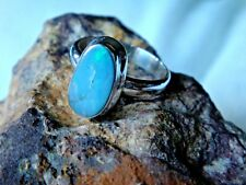 STERLING SILVER & ETHIOPIAN OPAL RING with15mm CABOCHON STONE UK size P £39.95
