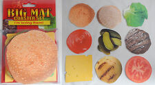 (9) BIg Mat Burger Hamburger Cheeseburger Theme Novelty Coasters Fun Gag Gift