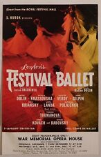 London'S Festival Ballet rare classical concert handbill Sf War Memorial Opera