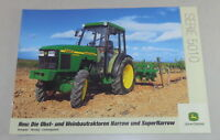 Prospekt John Deere Traktoren 7010 Serie, 7710 / 7810 von 07/2001