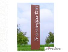 """Edelrost Gartenstele/Gartenstecker """"Traumgarten"""", H=120 cm"""