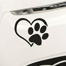 Pet Paw Print With Heart Dog Cat Vinyl Decal Car Window Bumper Stickers  Nice