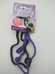 Goody Slide Proof Silicone HeadWraps, 2 HeadWraps