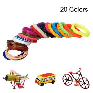 5M 20 Colors 3D Pen Filament ABS/PLA 1.75mm Plastic Rubber Printing Filaments