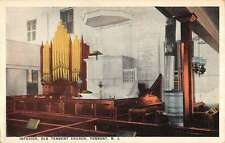 Tennent New Jersey Old Church Interior Antique Postcard K61315