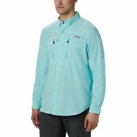 Columbia PFG Terminal Tackle Long Sleeve Woven Shirt Gulf Stream Green M L XL