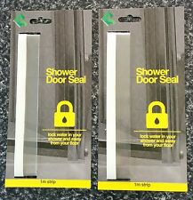 2 PACK- SHOWER SCREEN DOOR PLASTIC SEAL -Stop water splashing out of your shower