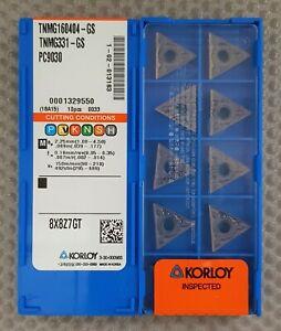 KORLOY CARBIDE INSERTSTNMG 160404-GS TNMG331GS Grade PC9030