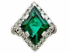 0.85 Ct Sapphire & Diamond 18k White Gold Ring
