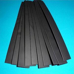 20mm diameter Black HEATSHRINK 10 x 200mm Pieces (HS10)