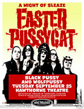 Faster Pussycat / Black Pussy & Wolf Pussy 2012 Portland Concert Tour Poster