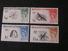FALKLAND IS. SCOTT # 128-131(4) 1/2p+1p+2p+21/2p VALUES 1960 QE2 DEFINITIVE MLH
